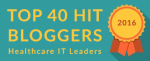 Top 40 HIT Bloggers Healthcare IT Leaders Large Badge